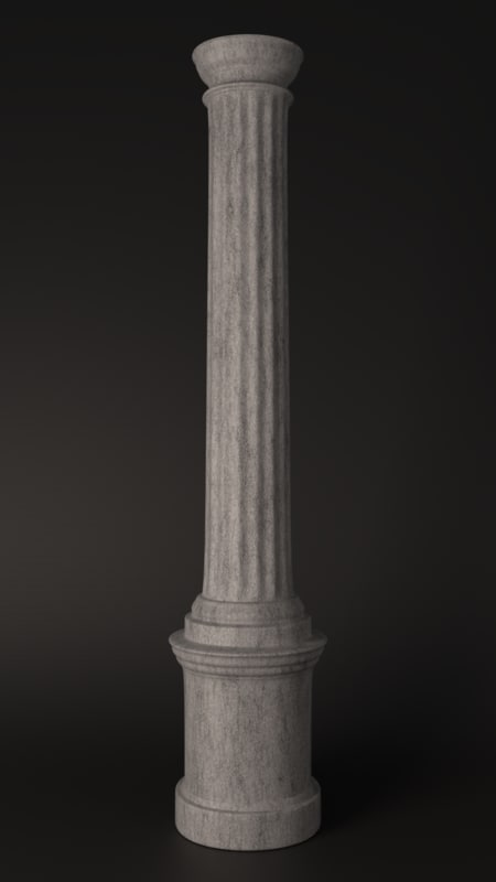 simple column 3D model