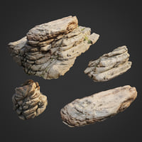 3D model scanned nature stone 009