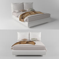 3D bed twils blanca deco