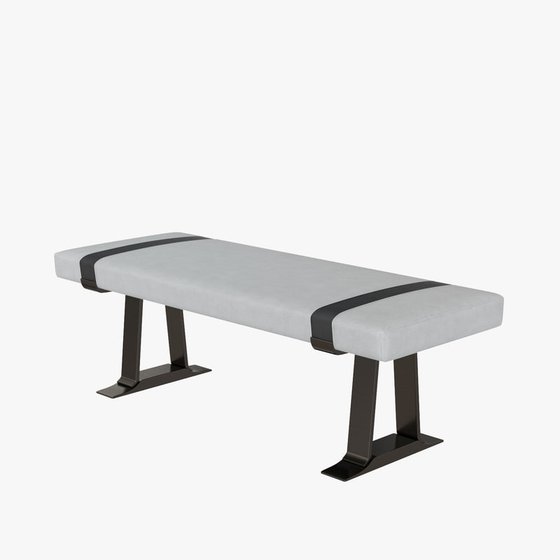 holly hunt aries bench 3D model