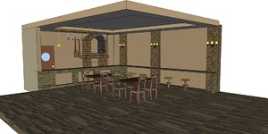pizza house 3D model