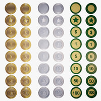 coins - number sign 3D