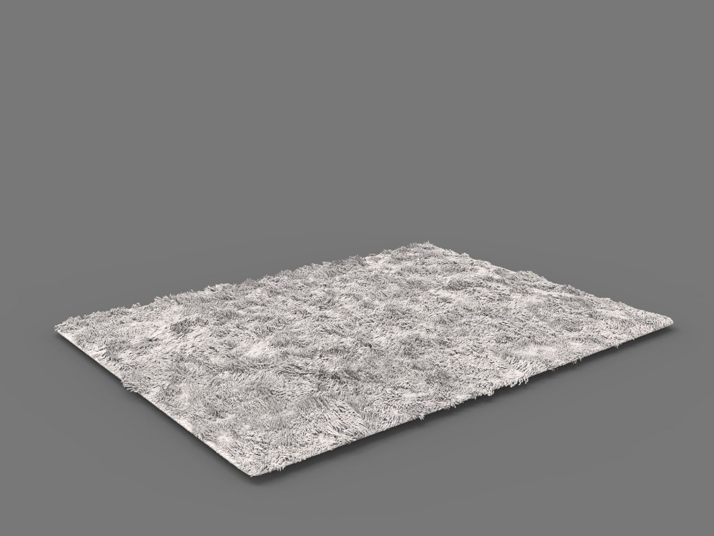 rugs hair fur 3D model