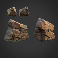 scanned nature stone 010 3D model