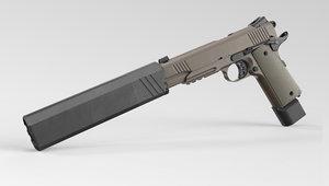 3D 1911 pistol