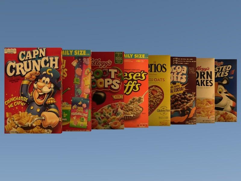 cereal box pack 8 3D model