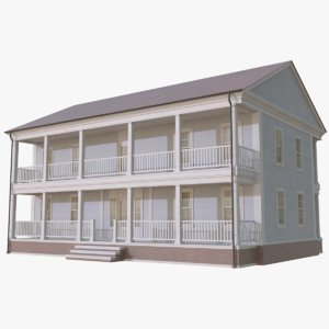 colonial house 4 3D model