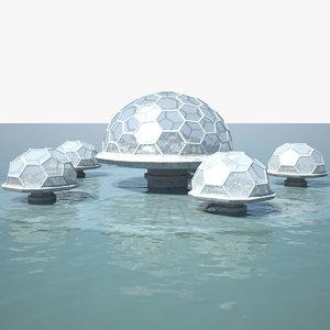 ocean dome city model