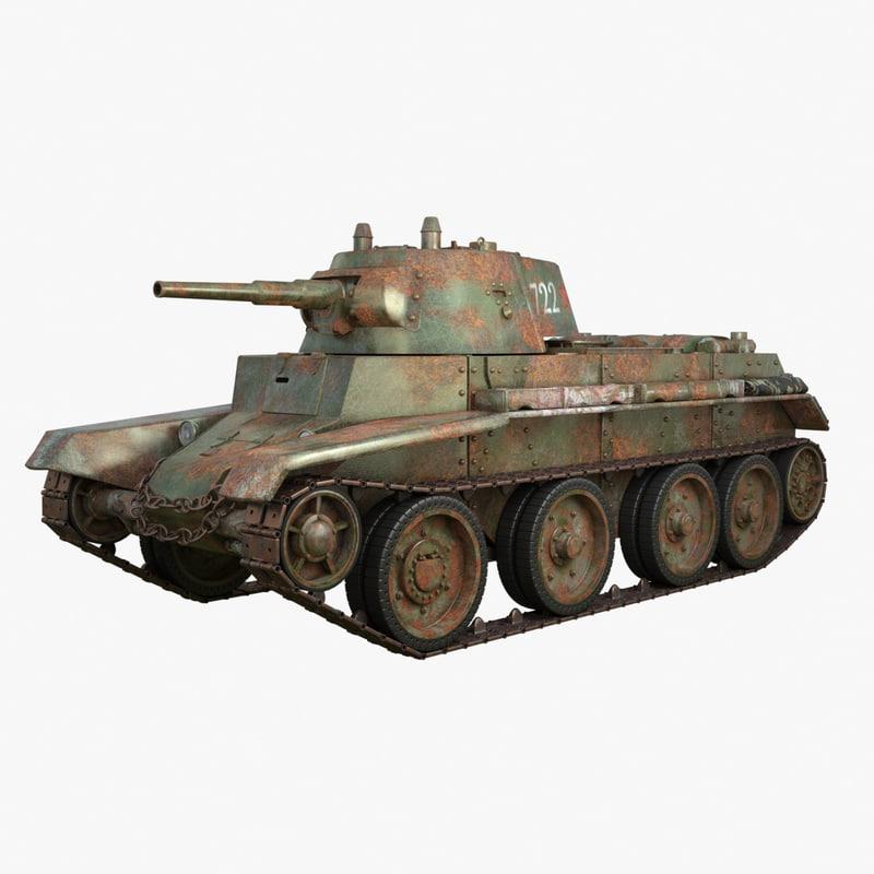 3D tank bt 7 soviet