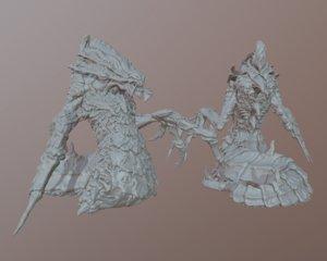 3D hydralisk starcraft printing model