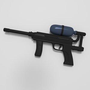 3D paintball gun