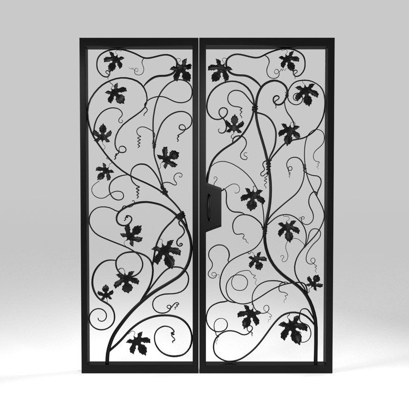 3D model forged doors