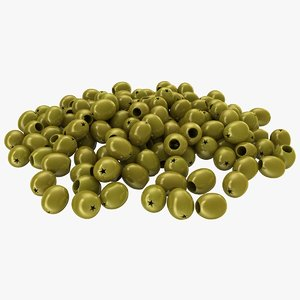 3D realistic pitted olives