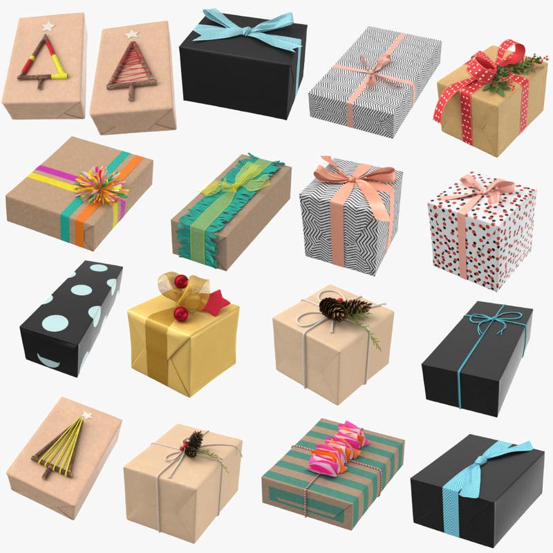 3D model birthday presents 17