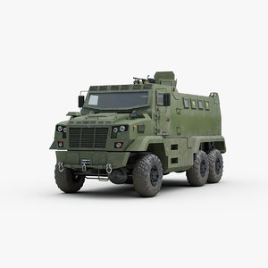 3D ukrainian kraz fiona armored truck model