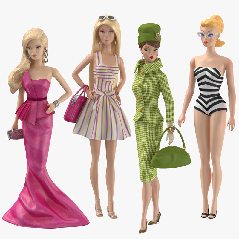 barbie dolls 01 3D model