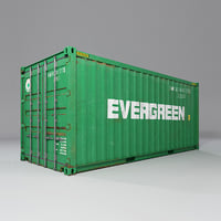 3D 20 feet shipping container