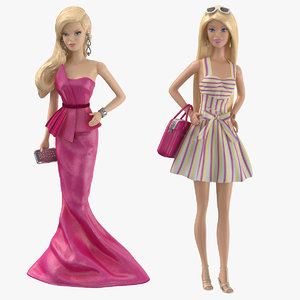 3D barbie dolls 02 model