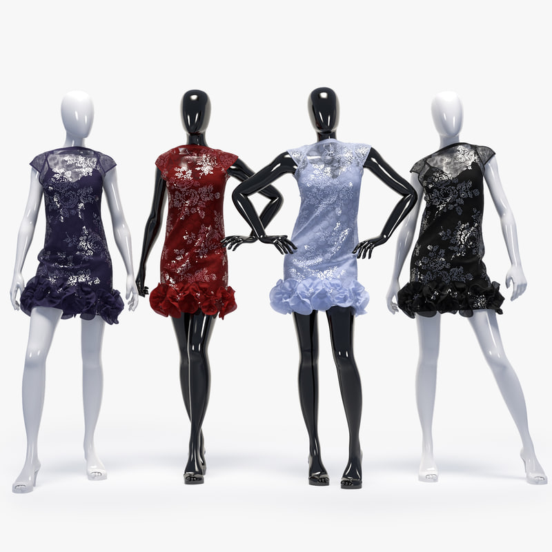 set female dress 3D model