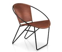 3D accent butler chair model