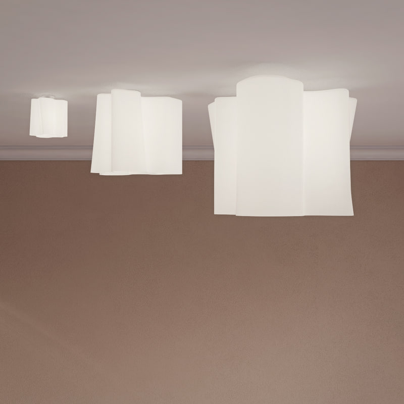 3D ceiling lamp soffito logico model