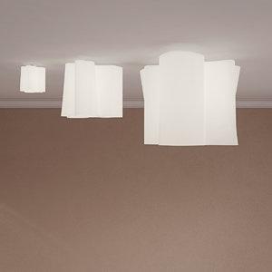 3D ceiling lamp soffito logico model