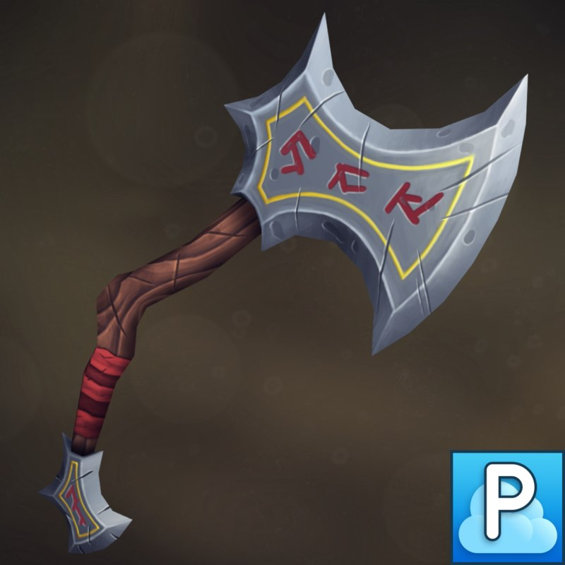handpainted axe 3D model