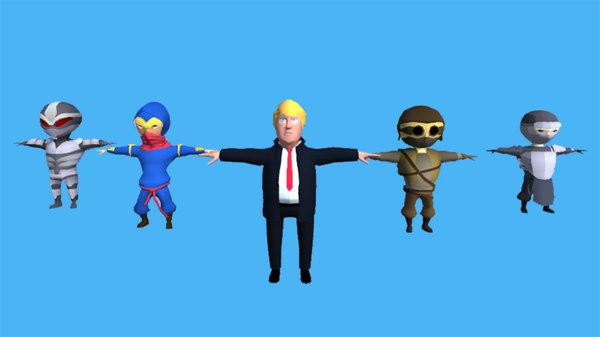 cartoon characters donald trump model