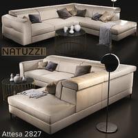 3D sofa natuzzi bebop 2900 model