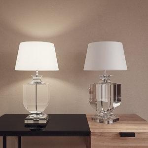 chrystal table lamp 2 3D model