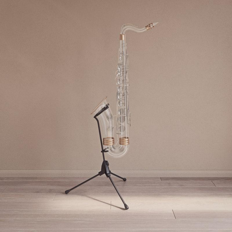 dig king chrystal saxophone 3D model