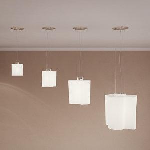 3D ceiling lamp suspension logico