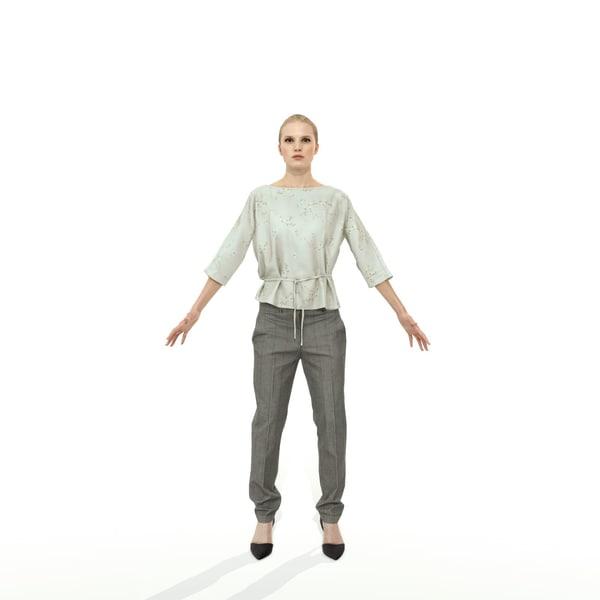 axyz character human 3D model
