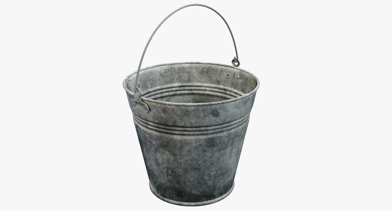 old bucket 3D