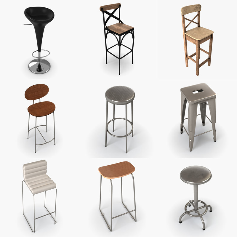 chair pack 3D model