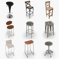 chair pack 3D model