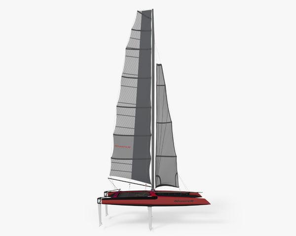 3D catamaran whisper
