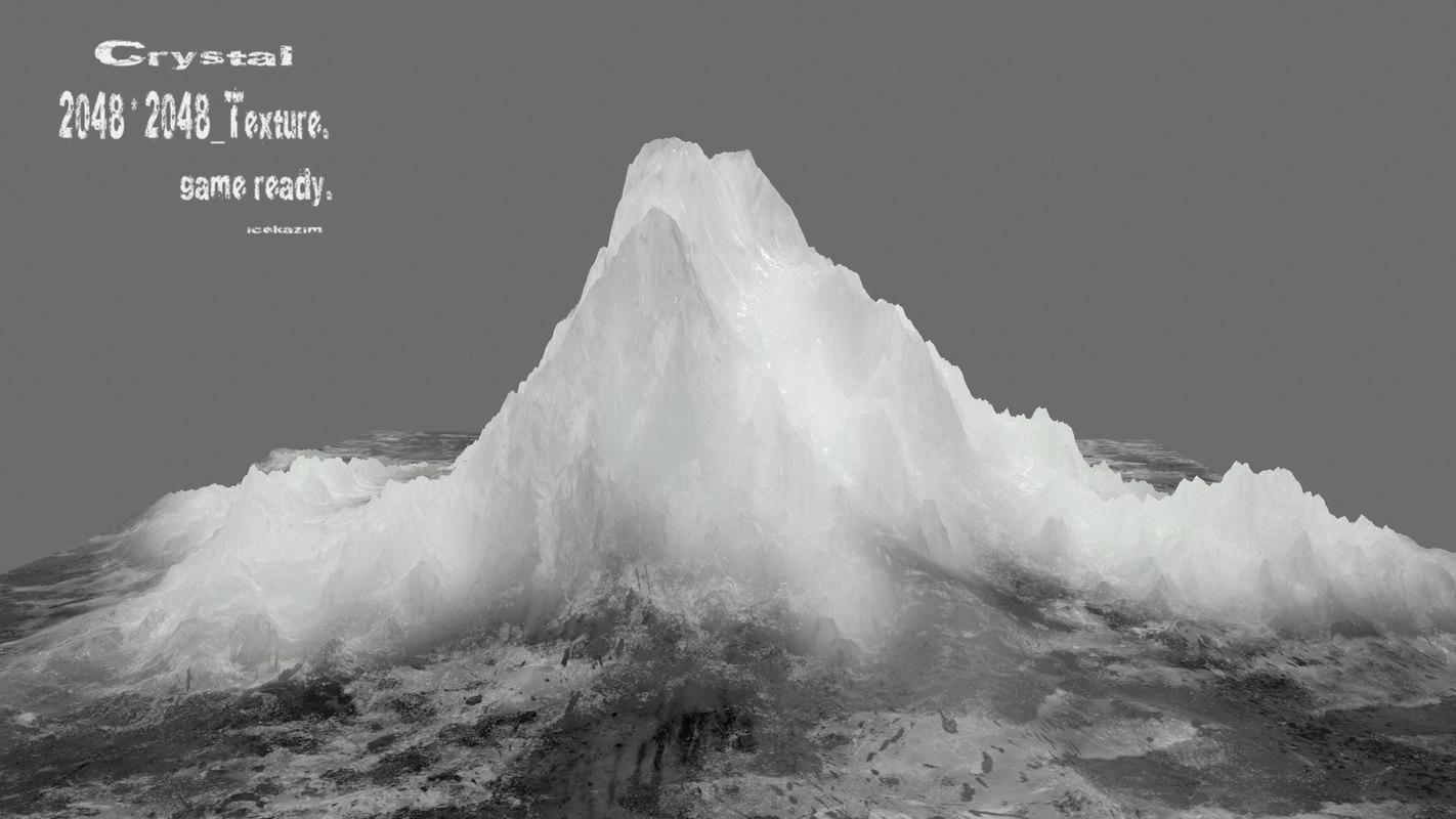 3D model iceberg frozen crystal