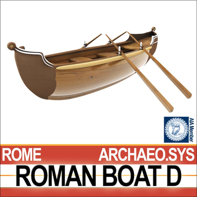3D ancient roman boat d model