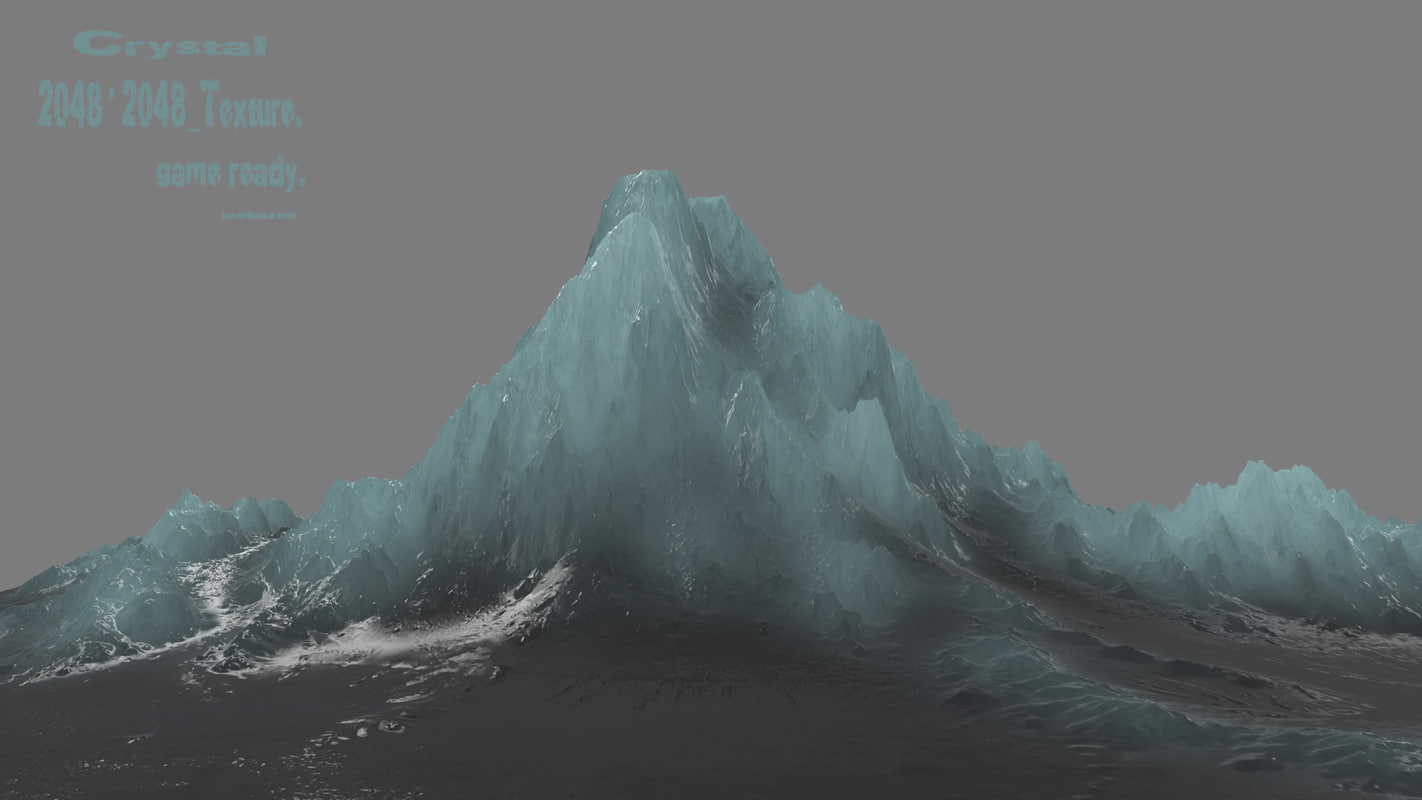iceberg frozen crystal 3D model