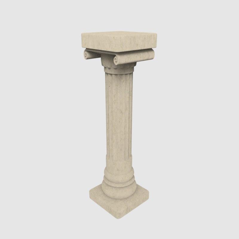 pillar ancient greece 3D