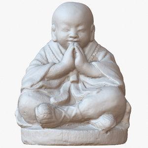 small sculpture monk 1m model