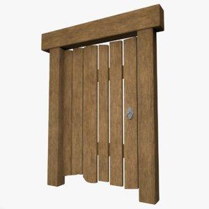 3D model medieval door