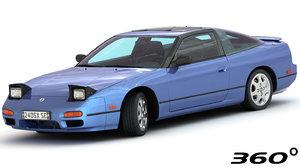 nissan 240sx 1994 interior 3D model