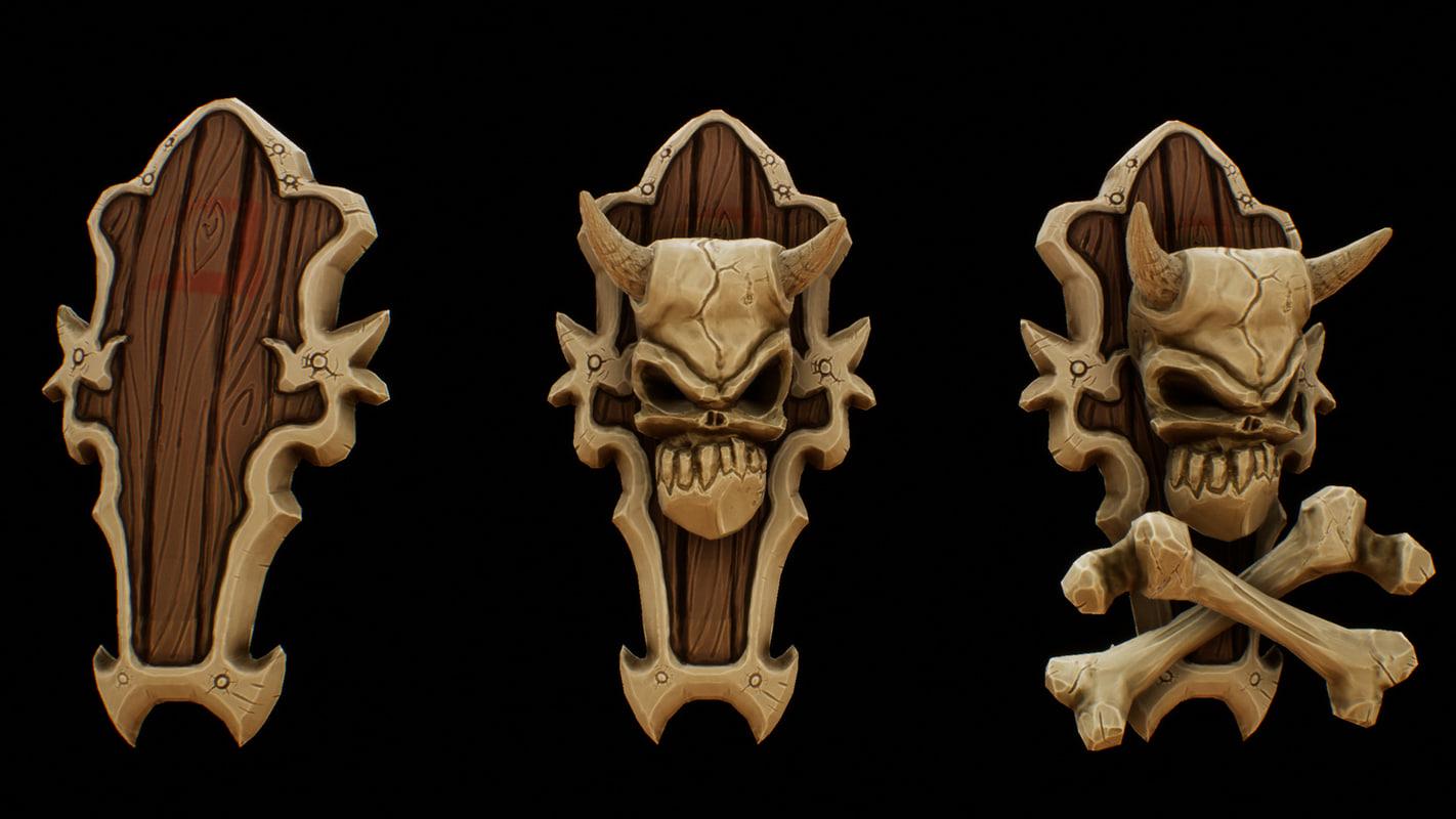 bone shield 3D model
