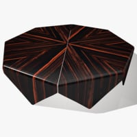 3D model wide coffee table