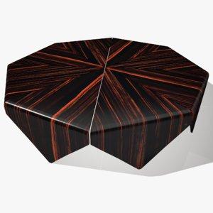 3D model wide coffee table
