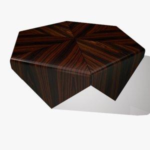 3D medium coffee table model