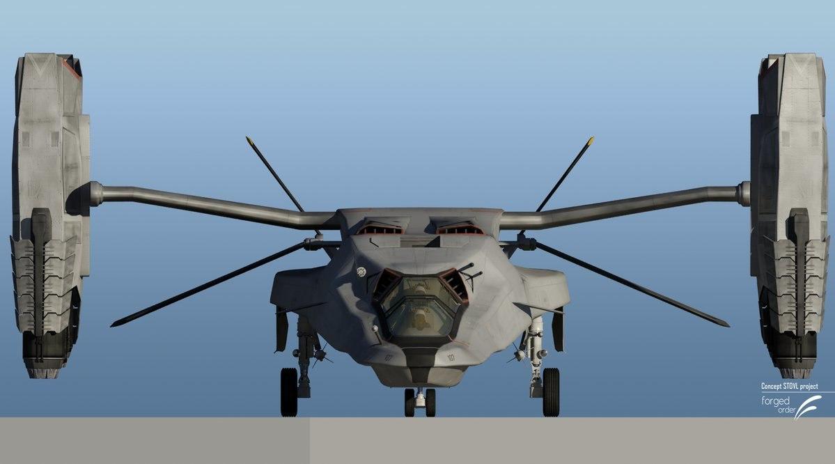3D concept vertical takeoff landing