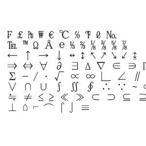 symbols4 ms mincho font 3D model